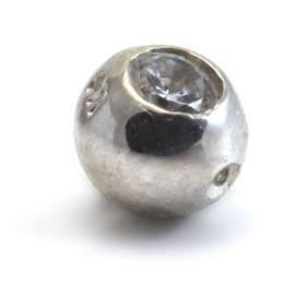 9ct White Gold Jewel Dimp Balls