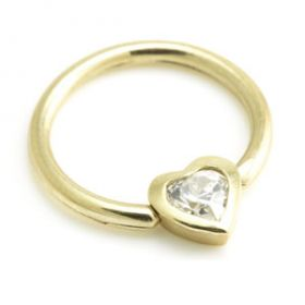 9ct BCR with Heart Gem