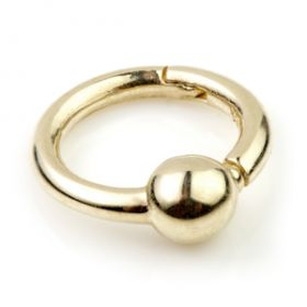 9ct Yellow Gold Hinge Segment BCR Ring - 1mm