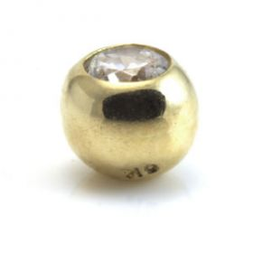 9ct Yellow Gold Micro Gem Ball