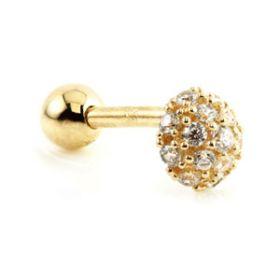 9ct Gold Multi Gems Microbar - 1mm