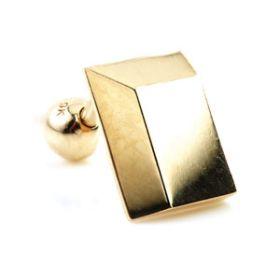 9ct Gold Rectangle Bar Microbar - 1mm