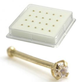 Boxed 9ct Jewelled 1.5mm Nose Studs