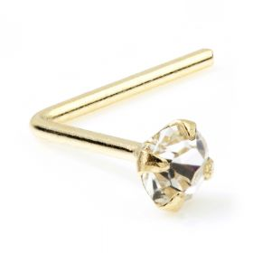 Boxed 9ct Yellow Jewelled 1.5 & 2mm Nose Studs - L Back