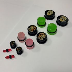 Acrylic Logo Plugs Mixed Size and design (2.5kg bag 2000 pieces approx)