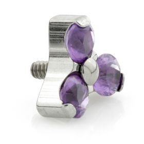 Titanium Internal Thread Micro Amethyst Trinity