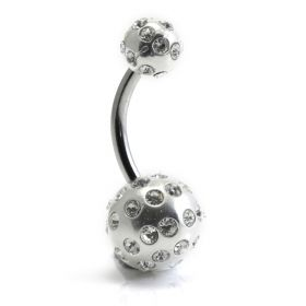 Tiffany Ball Silver & Steel Navel (BA01)