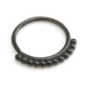 Black Steel Seamless Septum / Ear Ring