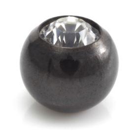 Evil Black Titanium External Thread Gem Ball