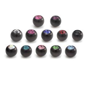 Black Steel Gem Ball