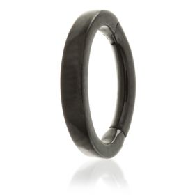 Black Steel Hinged Claw Rook Ring