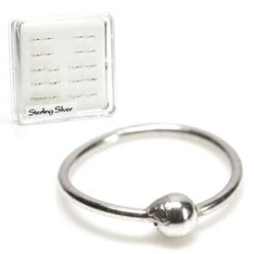 20x Silver Seamless Rings with Ball - in Box