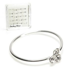 20x Silver Seamless Rings with Trinity Gem - in Box
