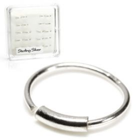 20x Silver Seamless Rings with Bar - in Box