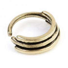 1x Banded Bronze Open Ring
