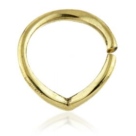 Curved Wishbone Brass Open Cartilage Ring