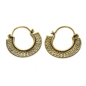 Brass Hoop Earrings (Pair)