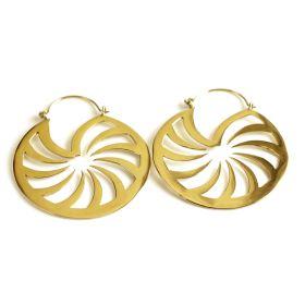 Brass Circular Hoop Earrings (Pair)