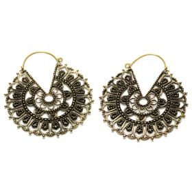 Huge Brass Mandala Earrings (Pair)