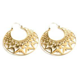 Massive Brass Hoop Earrings (Pair)
