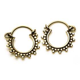 Small Brass Afghan Hoop Earrings (Pair)