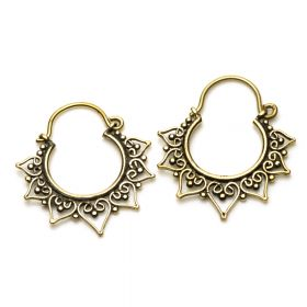 Small Brass Heart Hoop Earrings (Pair)