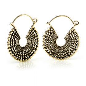 Brass Round Hoop Earrings (Pair)