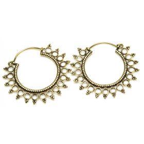 Brass Circle Hoop Earrings (Pair)