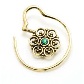 1x Small Mandala Brass Weight with Opal
