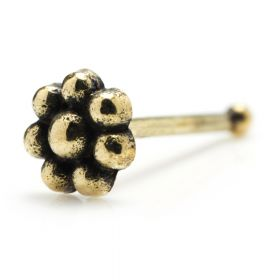 Brass Flower Small Flower Nose Bone