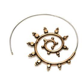 1x Rose Bronze Tribal Spiral