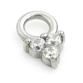 Steel Crystal TRINITY Charm