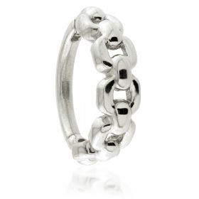 Steel Hinged Chain Conch Ring