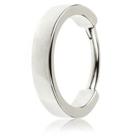 Steel Hinged Flat Conch Ring