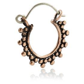 Small Copper Afghan Hoop Earrings (Pair)