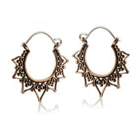Copper Small Heart Hoop Earrings (Pair)