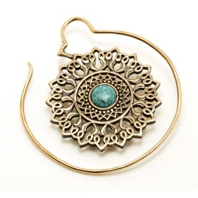 1x Large Copper Weight with Turquoise