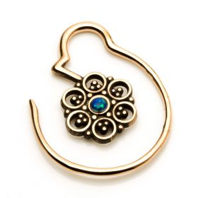 1x Small Mandala Copper Weight with Opal