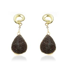 1x Druze Crystal Ear Weight
