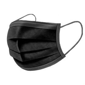 Black Disposable Face Mask - 3 layer (Box of 50)
