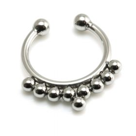 Fake Steel Pointed Septum Ring