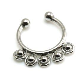 Fake Steel Ball Septum Ring