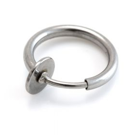 Fake Steel Ring - Spring Loaded