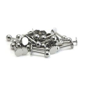 25 x Micro Plain Steel Labret - 1mm