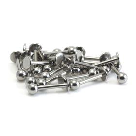 25 x Steel External Thread Labret