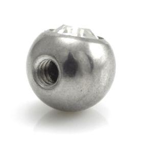 Steel External Thread Forward Facing Gem Balls