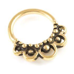 24K Yellow Gold PVD Seamless Septum / Ear Ring