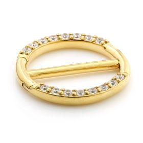 24K Gold Steel Jewelled Double Nipple Clicker