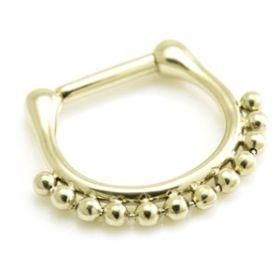Zircon Gold Steel Ball Septum Ring