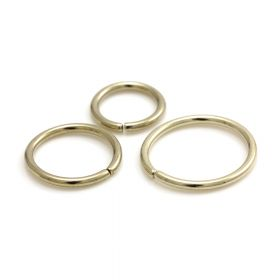 Zircon Gold Steel Seamless Ring